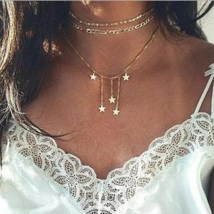 Stars Multilayered Choker Necklace